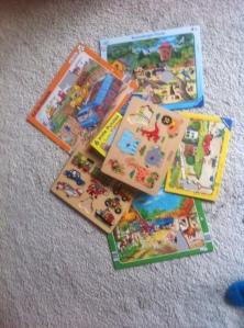 Kinderpuzzle, Babypuzzle, Aufräumen im Kinderzimmer