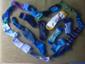 Socken gehen verloren, Socken suchen, Waschmaschine frisst Socken