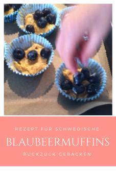 Rezept für schwedische Blaubeermuffins: Diese Muffins mit Heidelbeeren sind ruckzuck gebacken, sehr lecker und schmecken auch Kindern!
