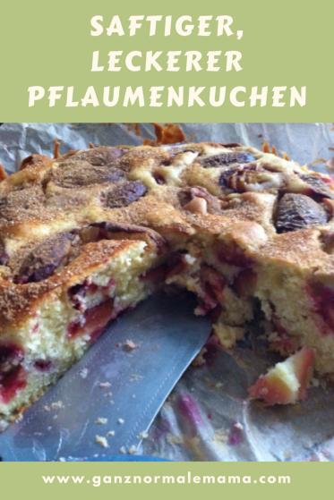 Rezept für Pflaumenkuchen mit Rührteig. Dieser Kuchen ist schnell zu backen und supersaftig. Zwetschgenkuchen geht auch mit tiefgefrorenen Zwetschgen oder Pflaumen