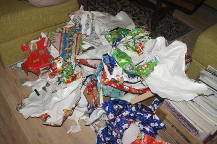Geschenkpapier, Weihnachten mit Kindern