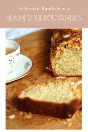 Rezept für einen Mandelkuchen mit einer Kruste aus Kandis und Mandeln. Schnell gemacht mit Kandiszucker von Diamant  Zucker.