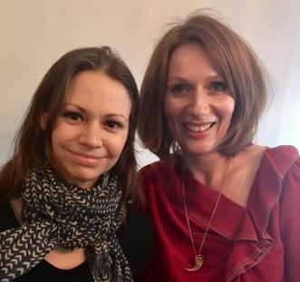 Nathalie Klüver, links, Nina Weger, rechts