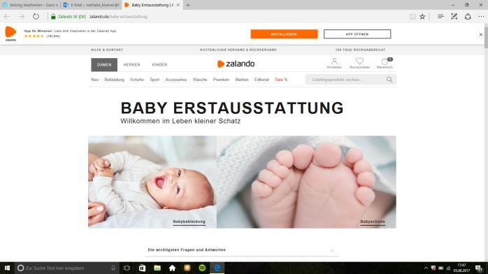 BAby Erstaustattung: Nützlicher guide für werdende Mamas.