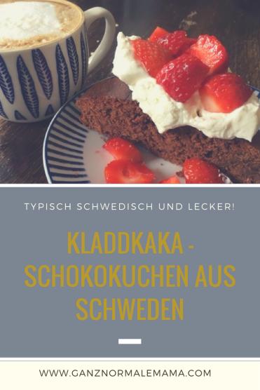 REzept für einen Kladdkaka: Einen Schokoladenkuchen aus Schweden. Typisch Schwedisch dieser Kuchen mit Schokolade und richtig lecker!
