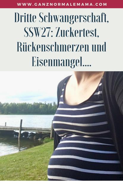 Dritte Schwangerschaft, SSW 27: Schwangerschaftsbeschwerden, Gedanken über Geschwister und wie man ihnen als Eltern gerecht wird und themen wie Eisenmangel und Zuckertest