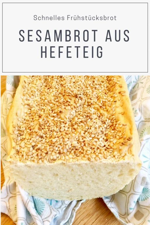 Ein einfaches Rezept für Sesambrot aus Hefeteig: Dieses Brot mit Weizenmehl im Stile eines französischens Landbrot ist schnell zu backen und schmeckt auch mit Mohn