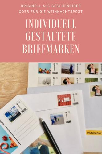 Briefmarke individuell der Deutschen Post: Briefmarken selbst gestalten zum Beispiel für die Weihnachtspost, Hochzeiten oder Geburtstage #weihnachten #geburtstag