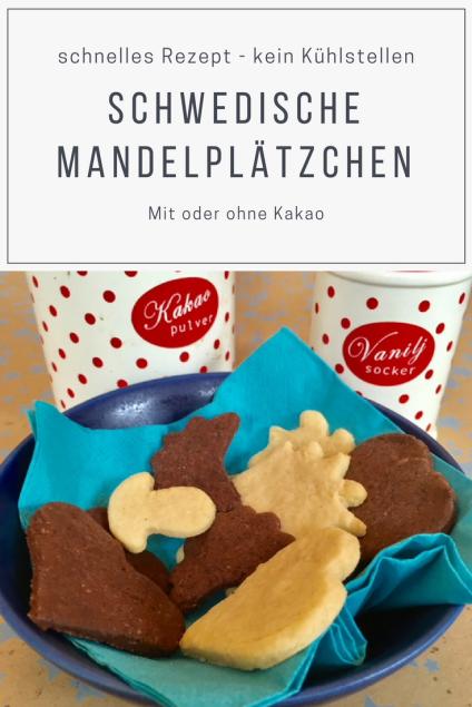 Einfaches REzept für schnelle Plätzchen mit Mandeln - diese Mandelplätzchen aus Schweden müssen nicht kühlgestellt werden. schmecken nicht nur im Advent. #weihnachten #plätzchen #backen