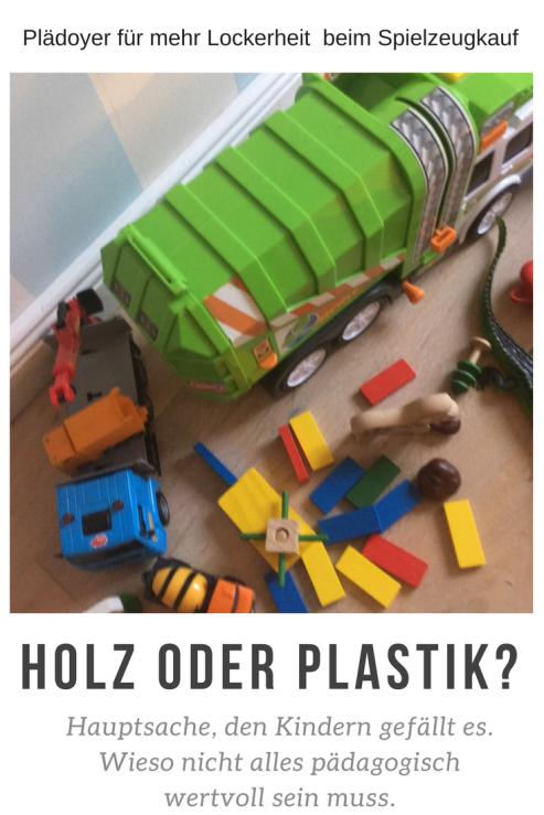 Mehr Gelassenheit beim thema Spielzeugkauf: Es muss nicht immer Holzspielzeug und pädagogisch wertvoll sein. Entspannt Euch Eltern! Spielzeug soll dem Kind gefallen. Und die Kreativität wird durchs Spielen immer angeregt, egal womit.