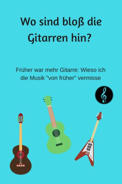 Kolumne über die Popmusik von heute - ich vermisse die alte Rockmusik mit ihren Gitarren und ehrlichen Stimmen